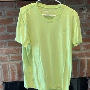 American Eagle lime green tee Large